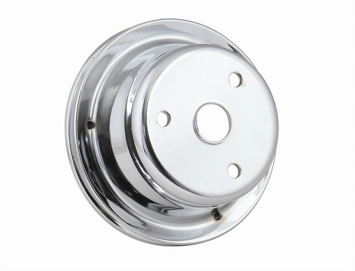 Mr. Gasket Chrome Crank Pulley Single Groove