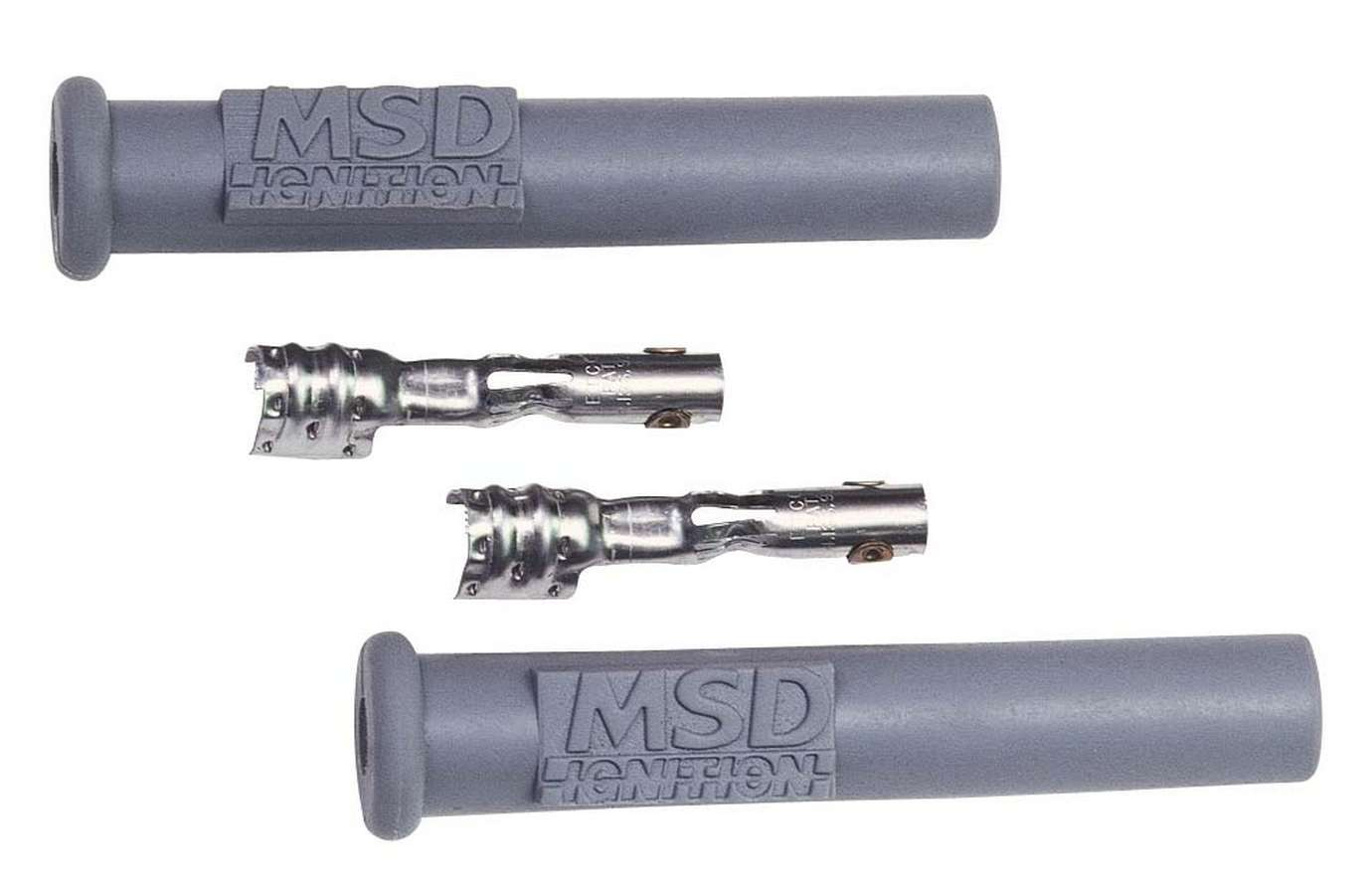 Msd Ignition Straight Spark Plug Boots- 2 Per Card