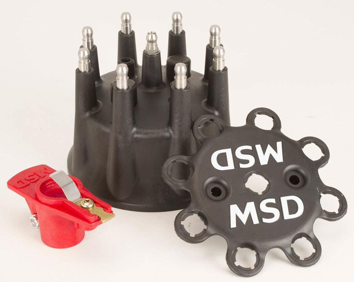 Msd Ignition Cap & Rotor Kit Pro Mag Lite - Black