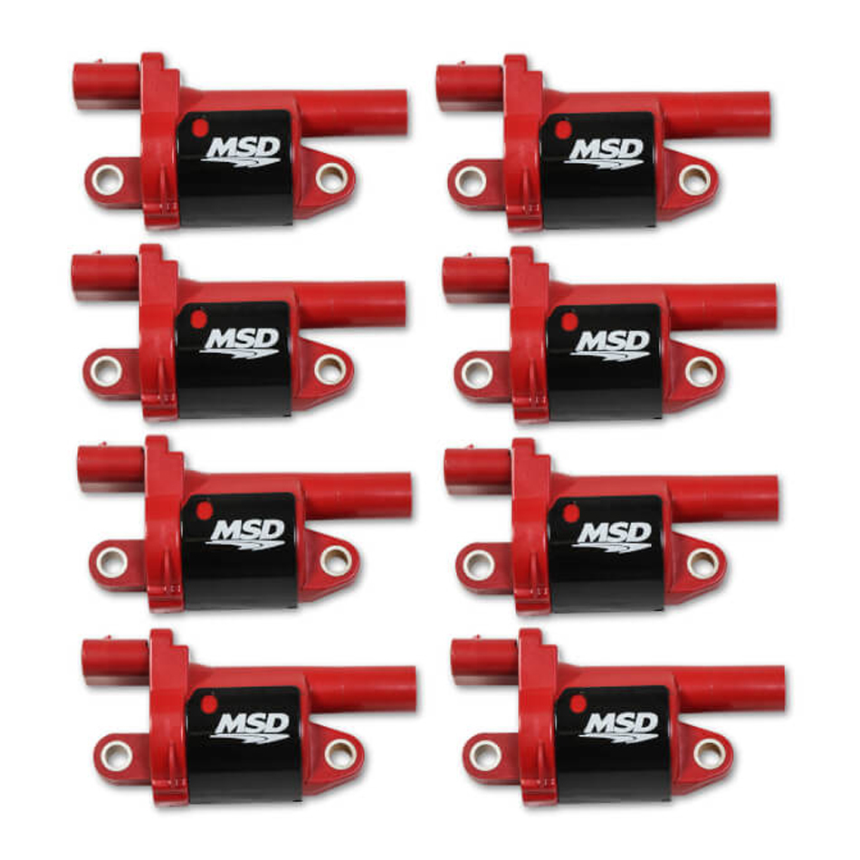 Msd Ignition Coil Red Round GM V8 2014-Up 8pk
