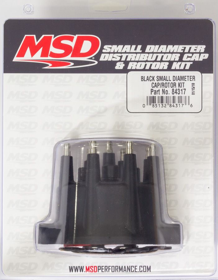 Msd Ignition Distributor Cap & Rotor Kit Small Diameter Black