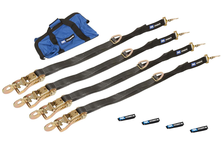 Macs Custom Tie-downs 4 Tie Down/Axle Strap Combo Direct Hook