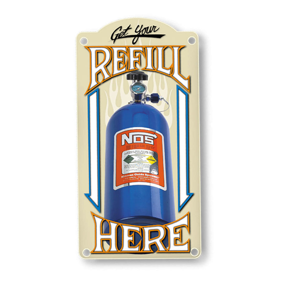 Nitrous Oxide Systems NOS Refill Metal Sign