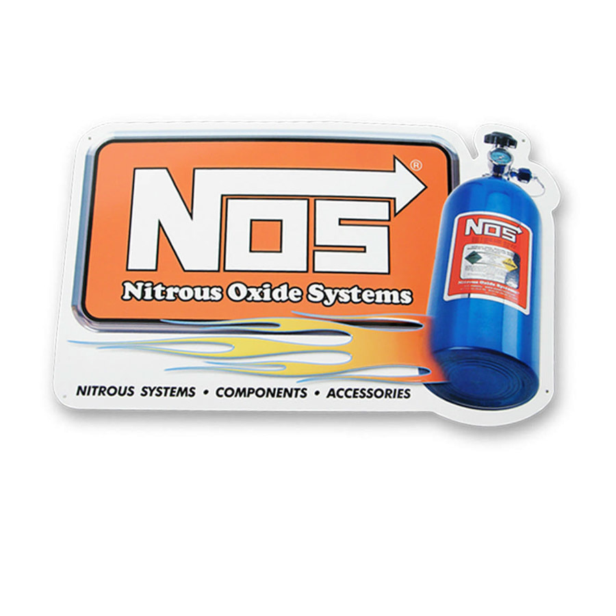 Nitrous Oxide Systems NOS Metal Sign