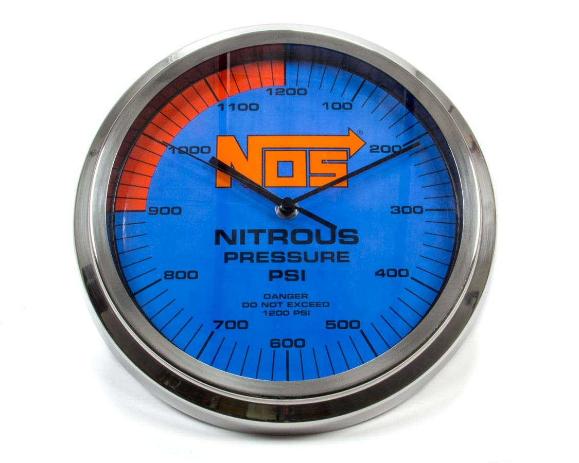Nitrous Oxide Systems NOS Wall Clock