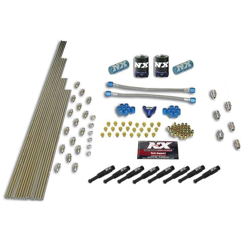 Nitrous Express Intake Plumbing Kit 1/16 8-Cylinder Dry Nozzle