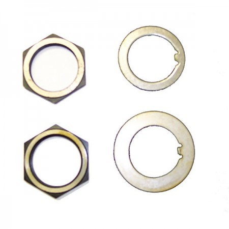 Omix-ada Spindle Nut/Washer Kit; 41-45 Willys MB - Rear