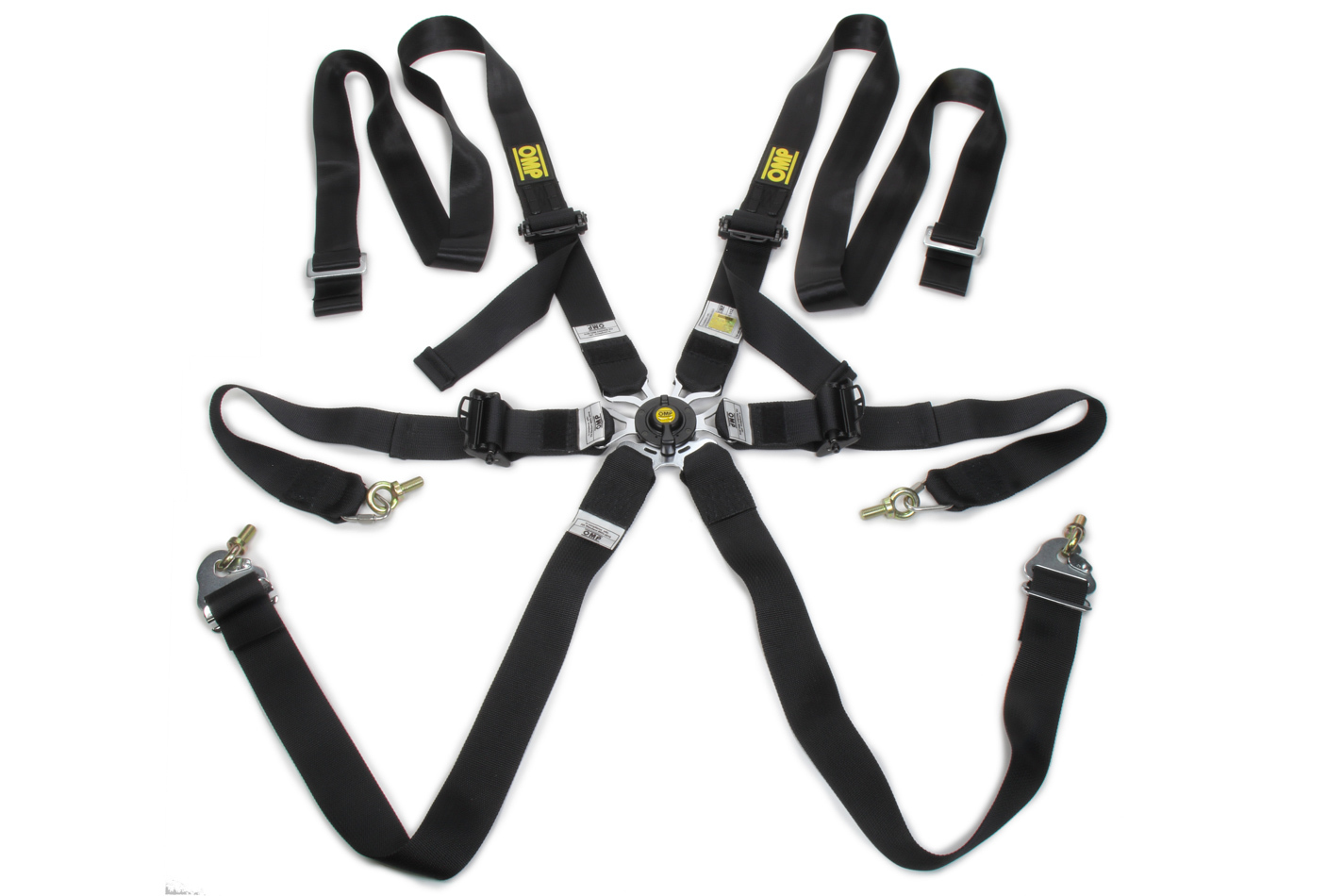 Omp Racing, Inc. Safety Harness In Poly 6pt Black P/D Steel Adj
