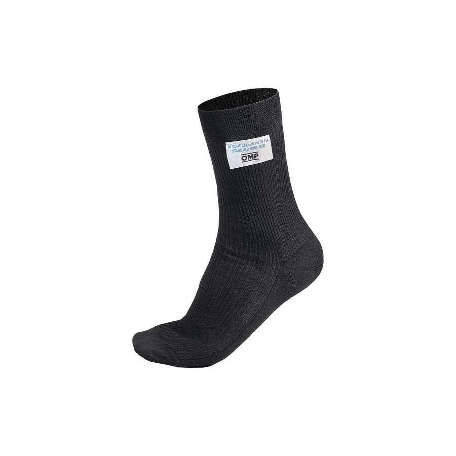 Omp Racing, Inc. Nomex Socks Short Medium BLK SFI3.3 FIA8856-2000