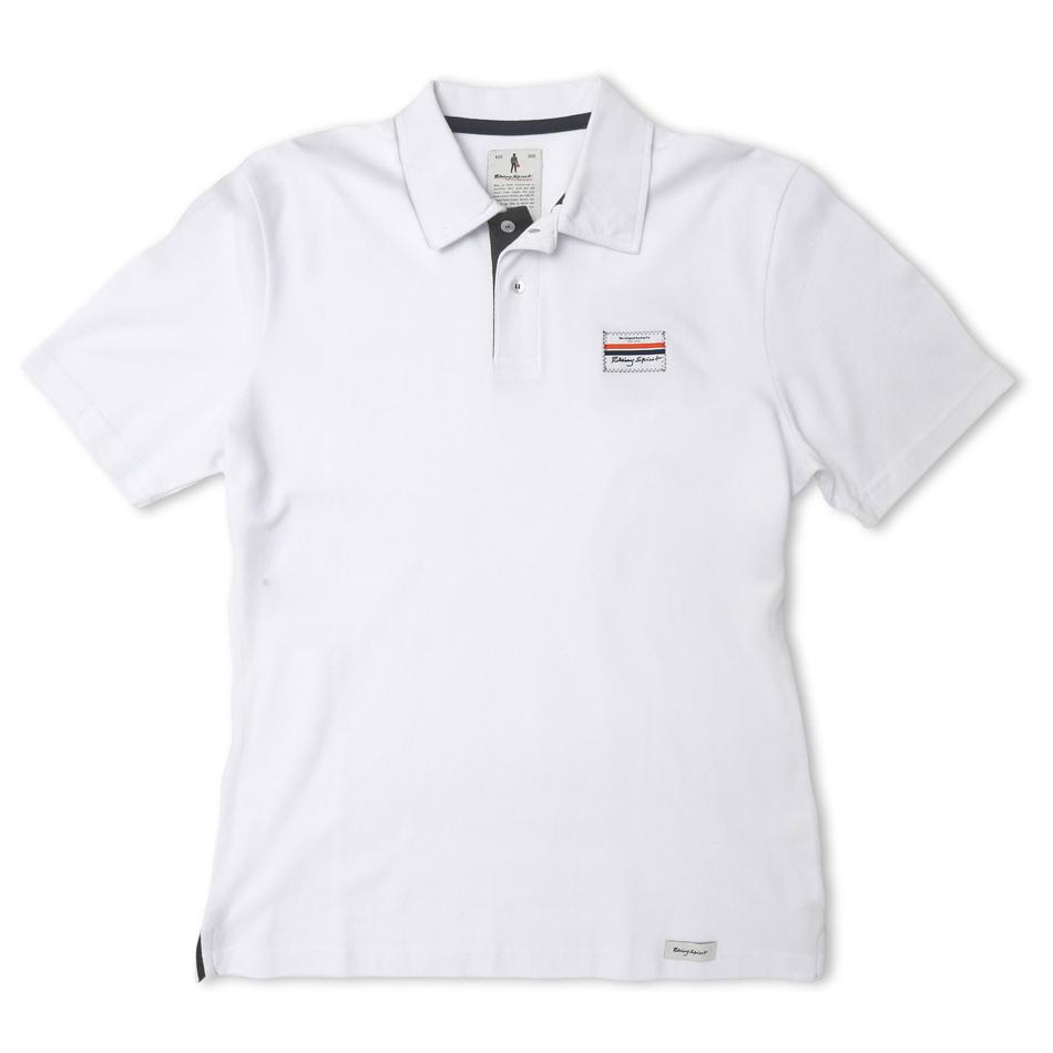 Omp Racing, Inc. Short Sleeves Polo Racing Spirit White XXL