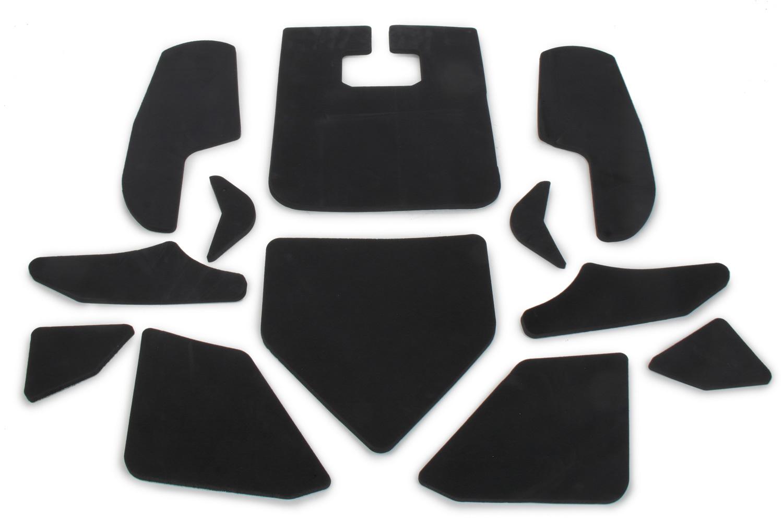 Omp Racing, Inc. Seat Padding Stick On Kit Black