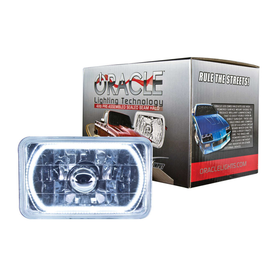 Oracle Lighting 4x6in Sealed Beam Head Light w/Halo White