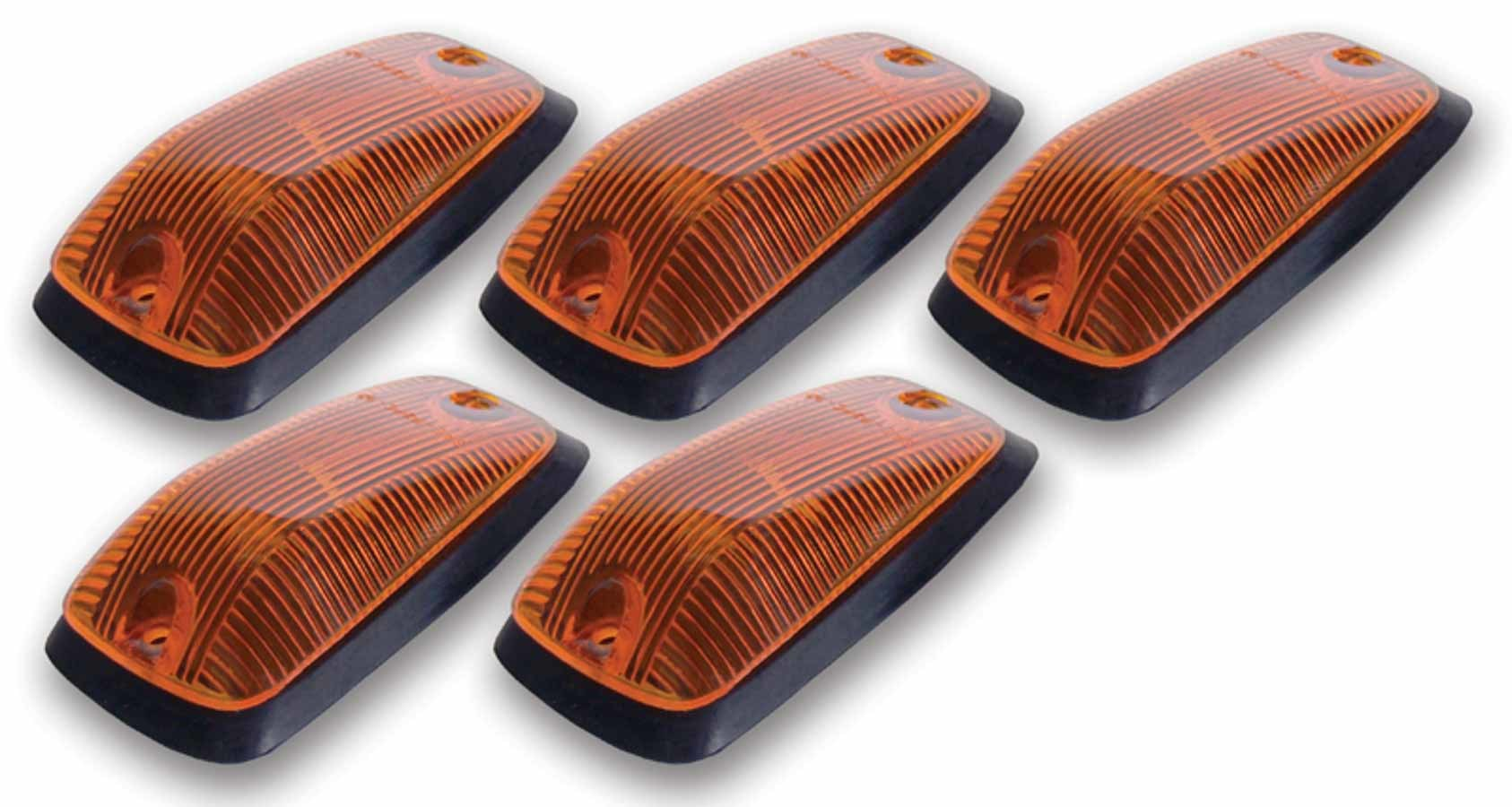 Pacer Performance Cab Roof Lights Amber 88-02 GM P/U Non LED