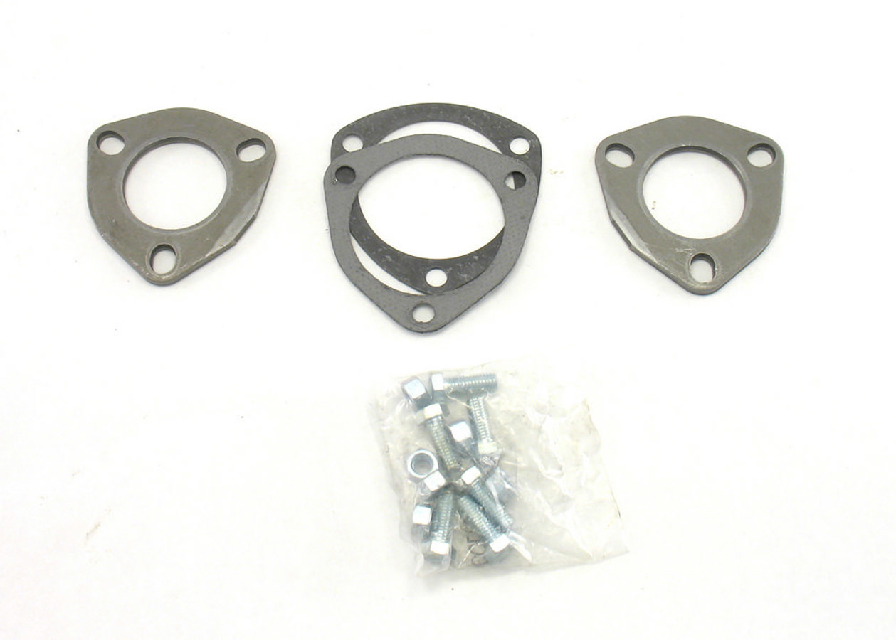 Patriot Exhaust Collector Flanges - 1pr 3-Bolt- 2in Dia.