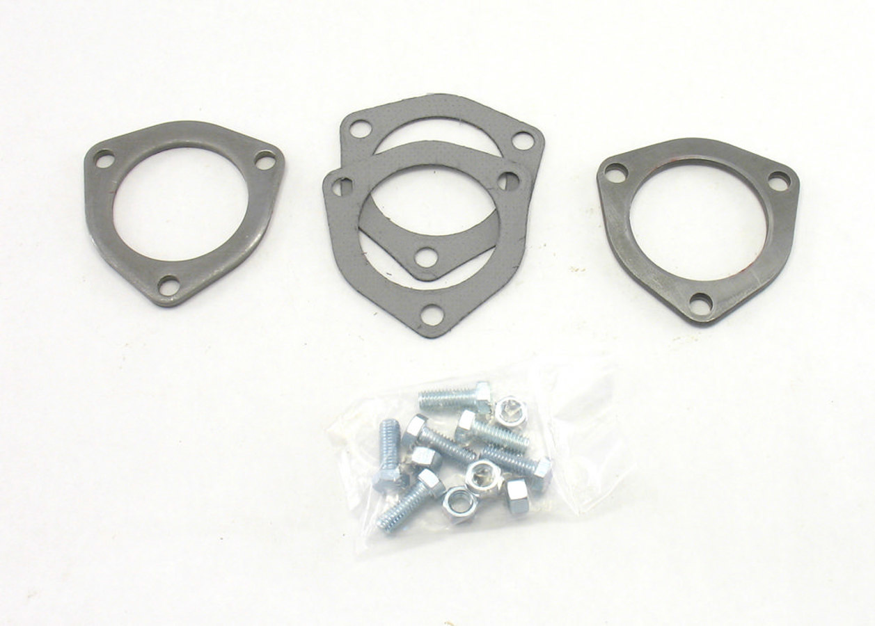 Patriot Exhaust Collector Flanges - 1pr 3-Bolt 2-1/2in Dia.