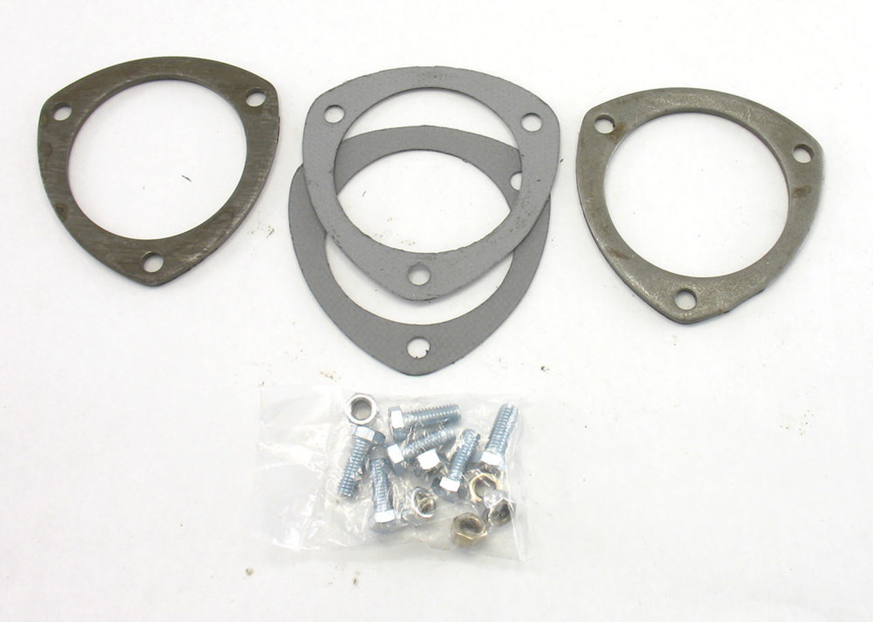 Patriot Exhaust Collector Flanges - 1pr 3-Bolt 3-1/2in Dia.