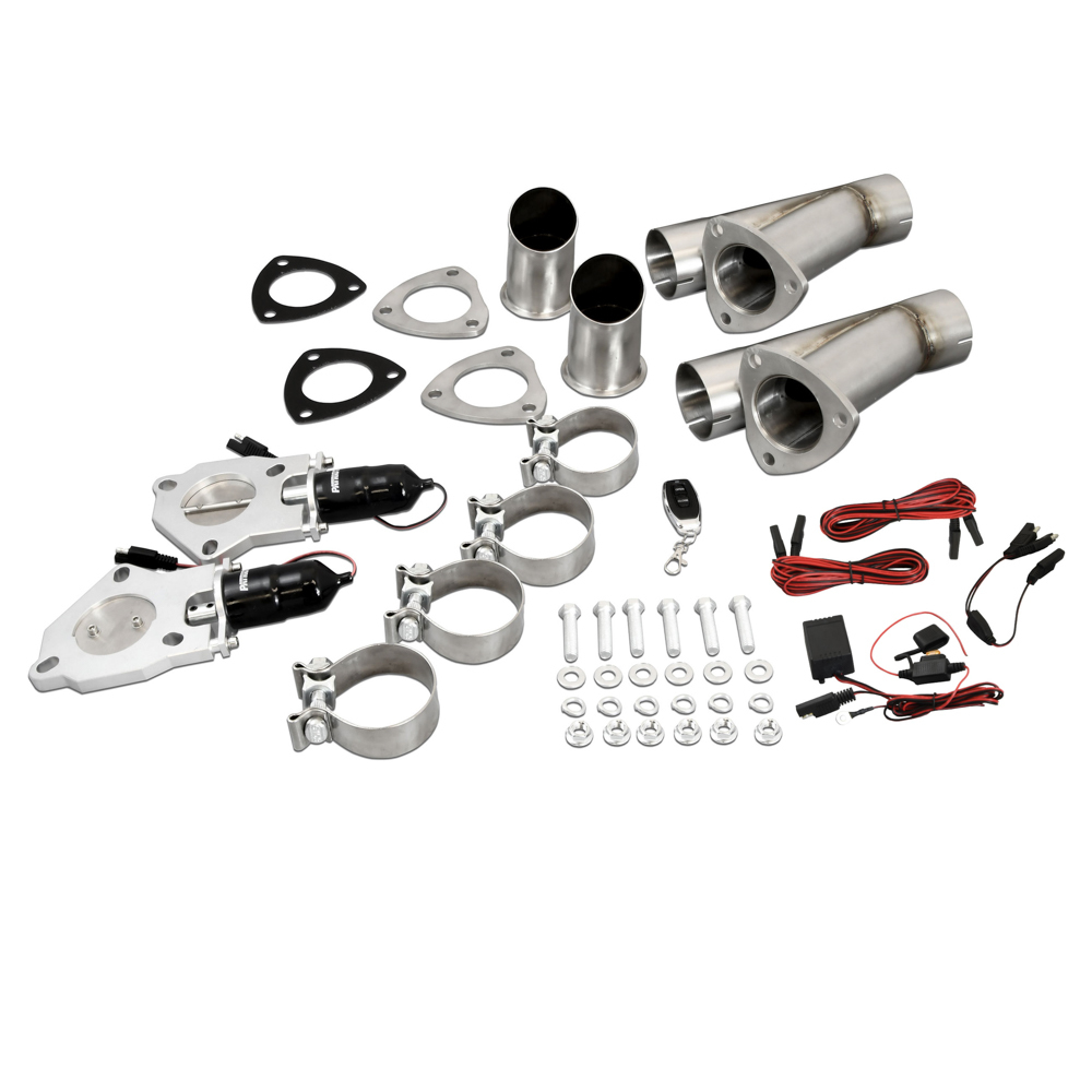 Patriot Exhaust 2.5 Electric Cutout Dual System w/Remote