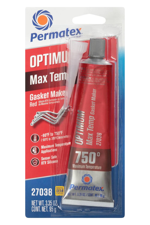 Permatex Optimum Red Max Temperature 3.35oz Tube