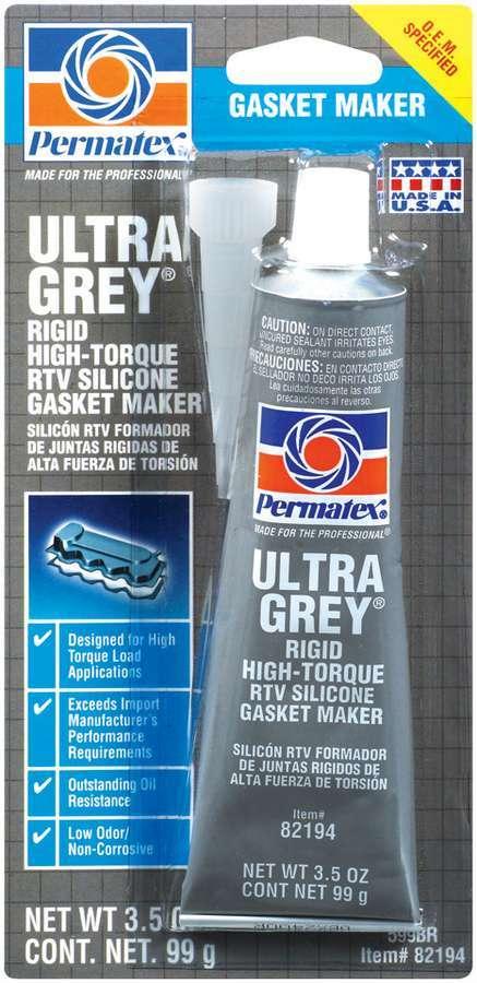 Permatex Ultra Grey Gasket Maker 3.5 oz Carded Tube