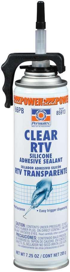 Permatex Powerbead Clear RTV Silicone 7.25oz
