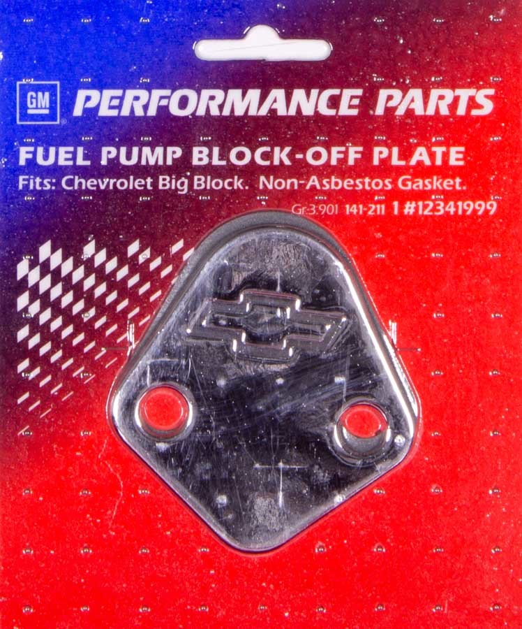 Proform BBC Bowtie Fuel Pump Block Off Plate