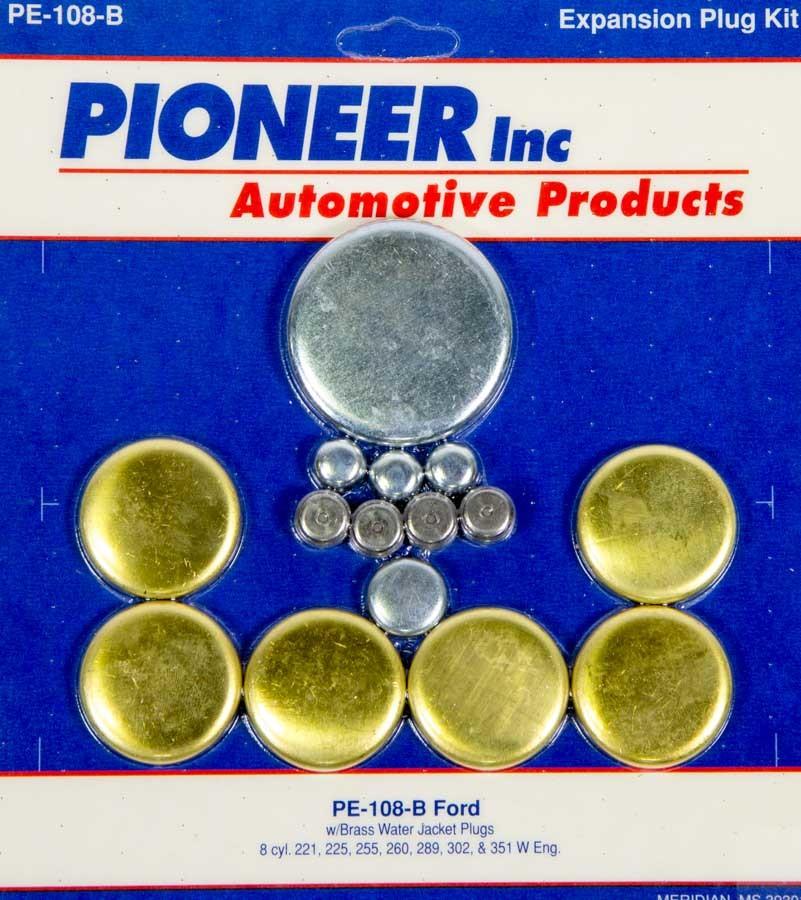 Pioneer 302 Ford Freeze Plug Kit - Brass