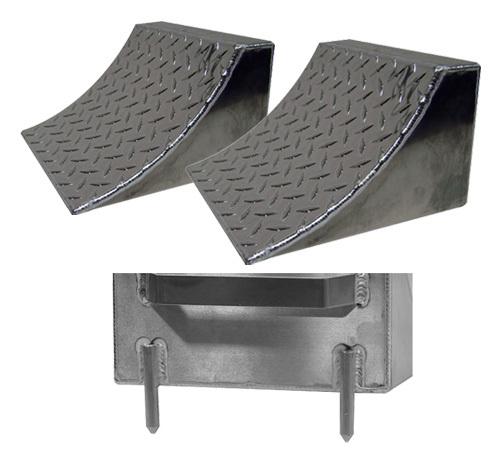 Pit-pal Products Wheel Chocks w/ Pins Pair