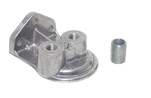 Perma-cool Oil Filter Mount  1in-12 Ports: 1/4in NPT  UP