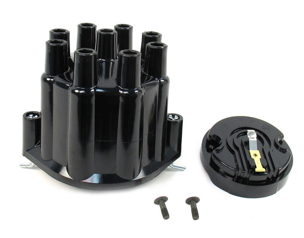 Pertronix Ignition Dist. Cap & Rotor Kit - Black