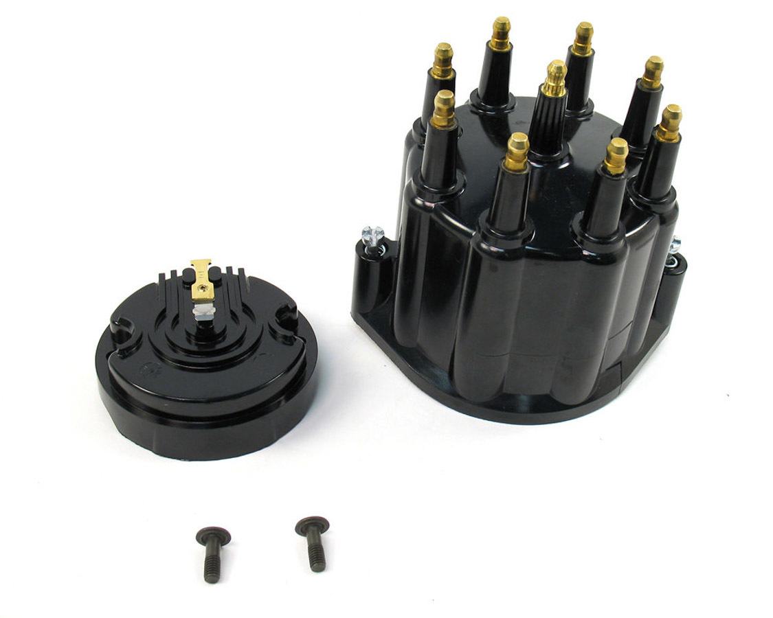 Pertronix Ignition Dist. Cap & Rotor Kit - Black w/Male Tower