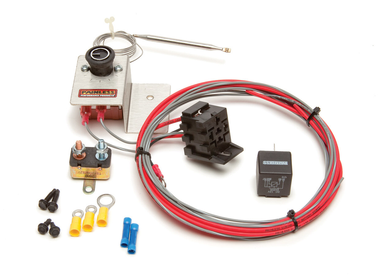Painless Wiring Adjustable Fan Thermo. w/Relay