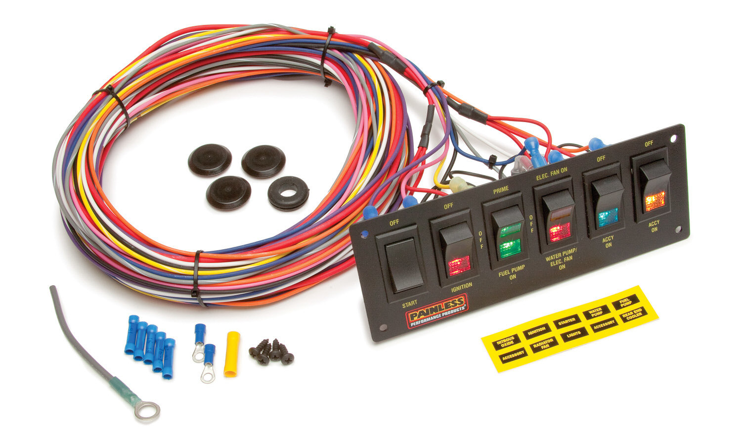Painless Wiring 6-Switch Lighted Rocker Switch Panel