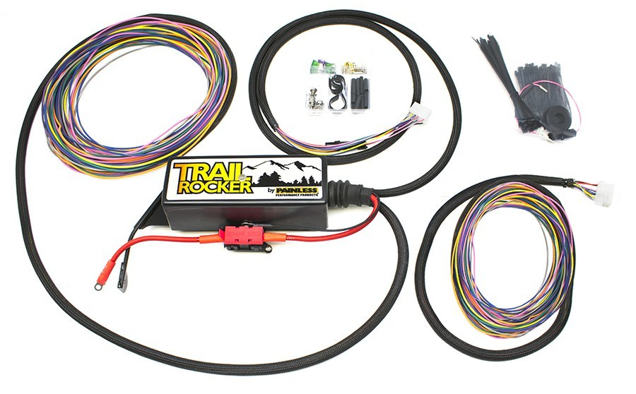 Painless Wiring Trail Rocker Kit 07-18 Wrangler JK w/o Switches