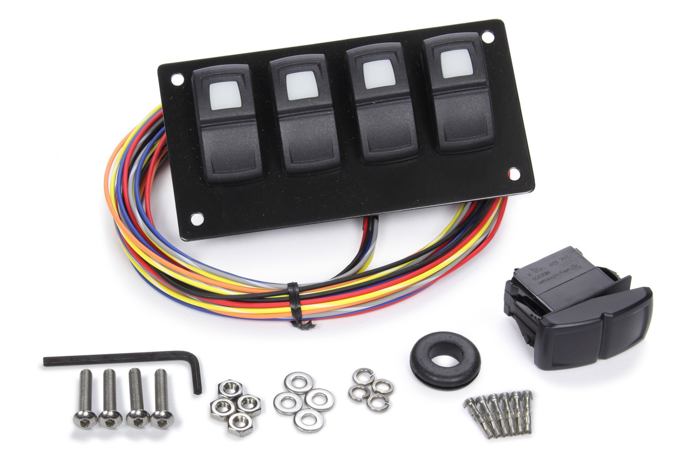 Painless Wiring Track Rocker 4 Switch Pa nel Dash Mount