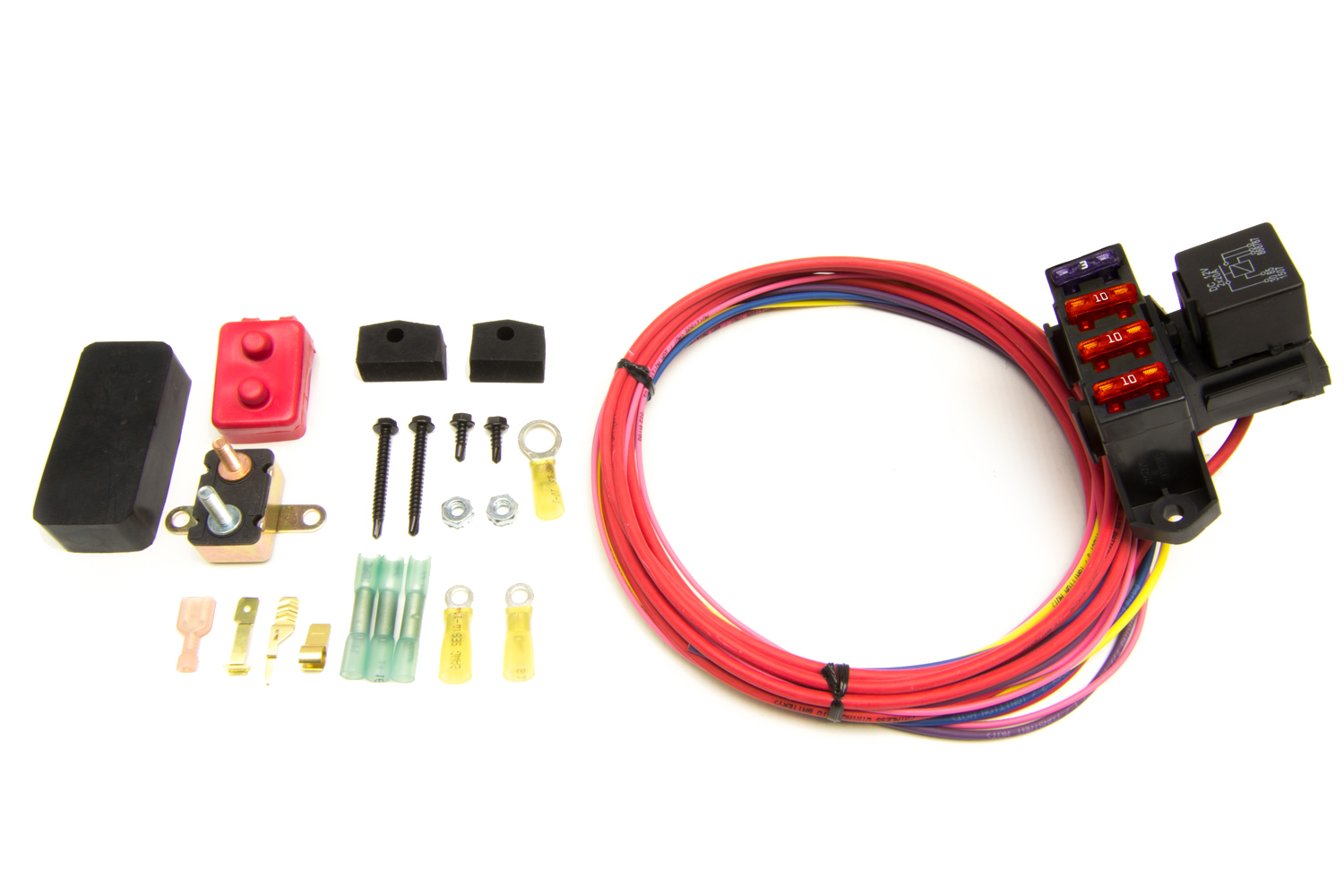 Painless Wiring 3 Circuit Fuse Block Weather Resistant