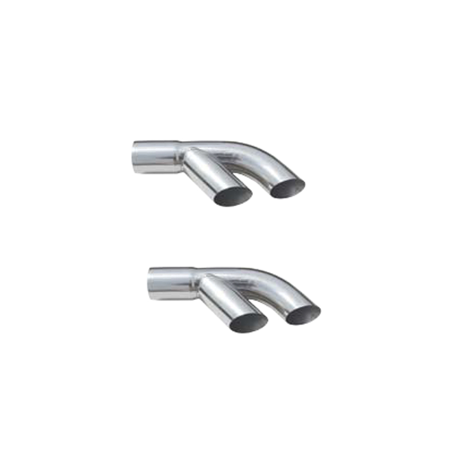 Pypes Performance Exhaust Exhaust Tip Slip Fit 3in to Dual 3in