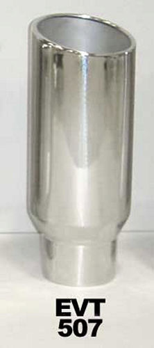 Pypes Performance Exhaust Exhaust Tip 5in x 7in 18in L Polished Weld-on