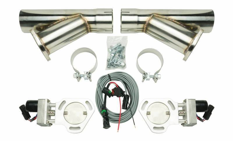 Pypes Performance Exhaust Dual Electric Exhaust Cutout 3in w/Y-Pipes