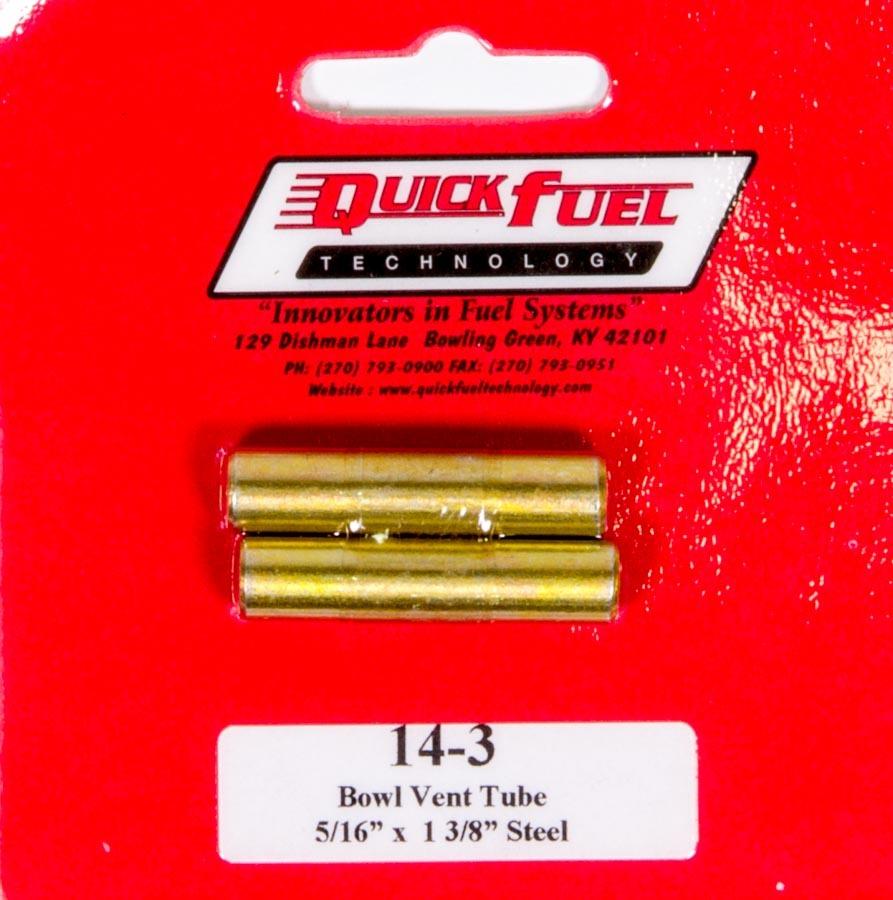 Quick Fuel Technology Vent Tubes (2pk) 5/16 x 1-3/8