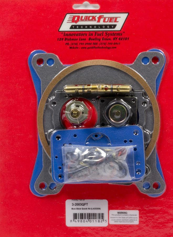 Quick Fuel Technology Carb Rebuild Kit w/Non- Stick Gaskets 4223/4224