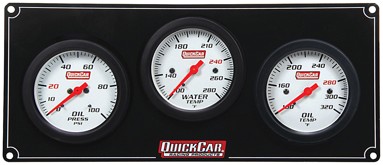 Quickcar Racing Products 3 Gauge Extreme Panel OP/WT/OT