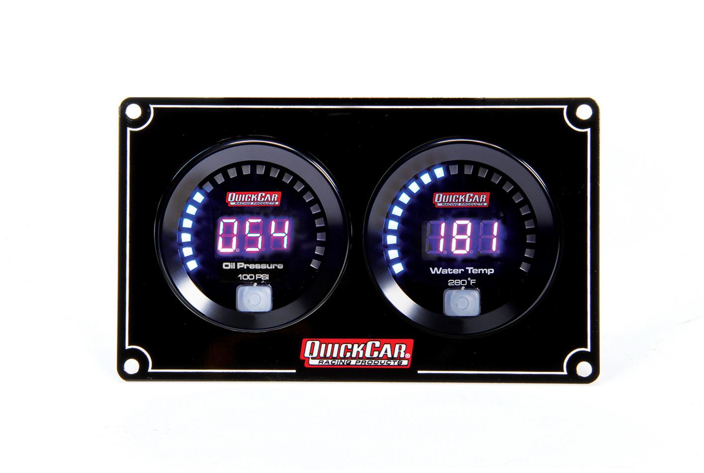 Quickcar Racing Products Digital 2-Gauge Panel OP/WT