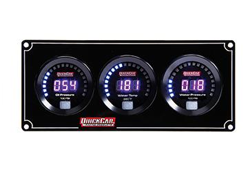 Quickcar Racing Products Digital 3-Gauge Panel OP/WT/WP