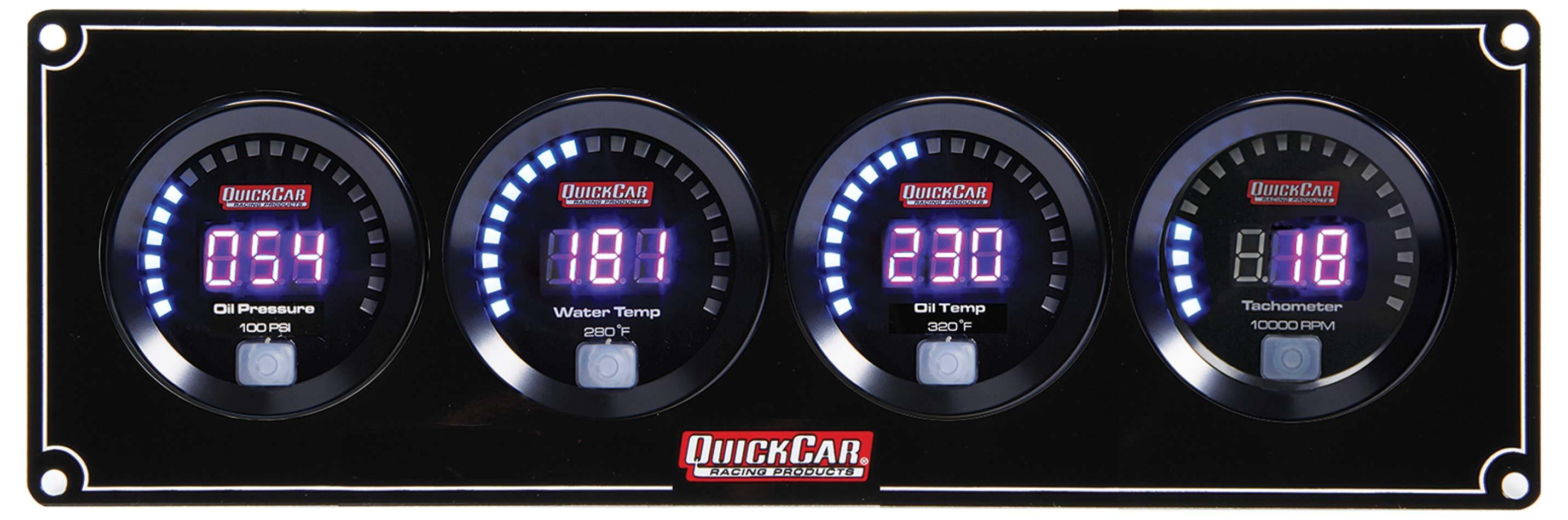 Quickcar Racing Products Digital 3-1 Gauge Panel OP/WT/OT w/Tach