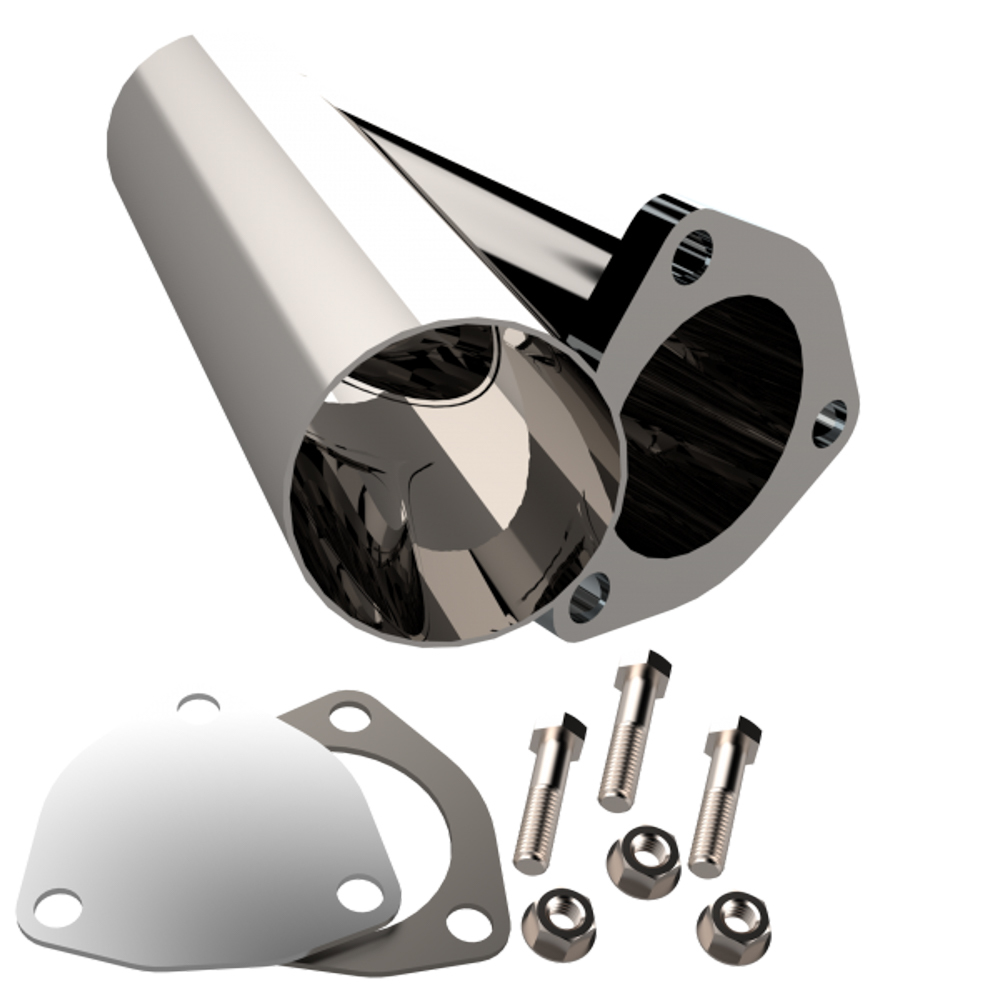 Quick Time Performance 2.50 Inch Stainless Stee l Exhaust Cutout