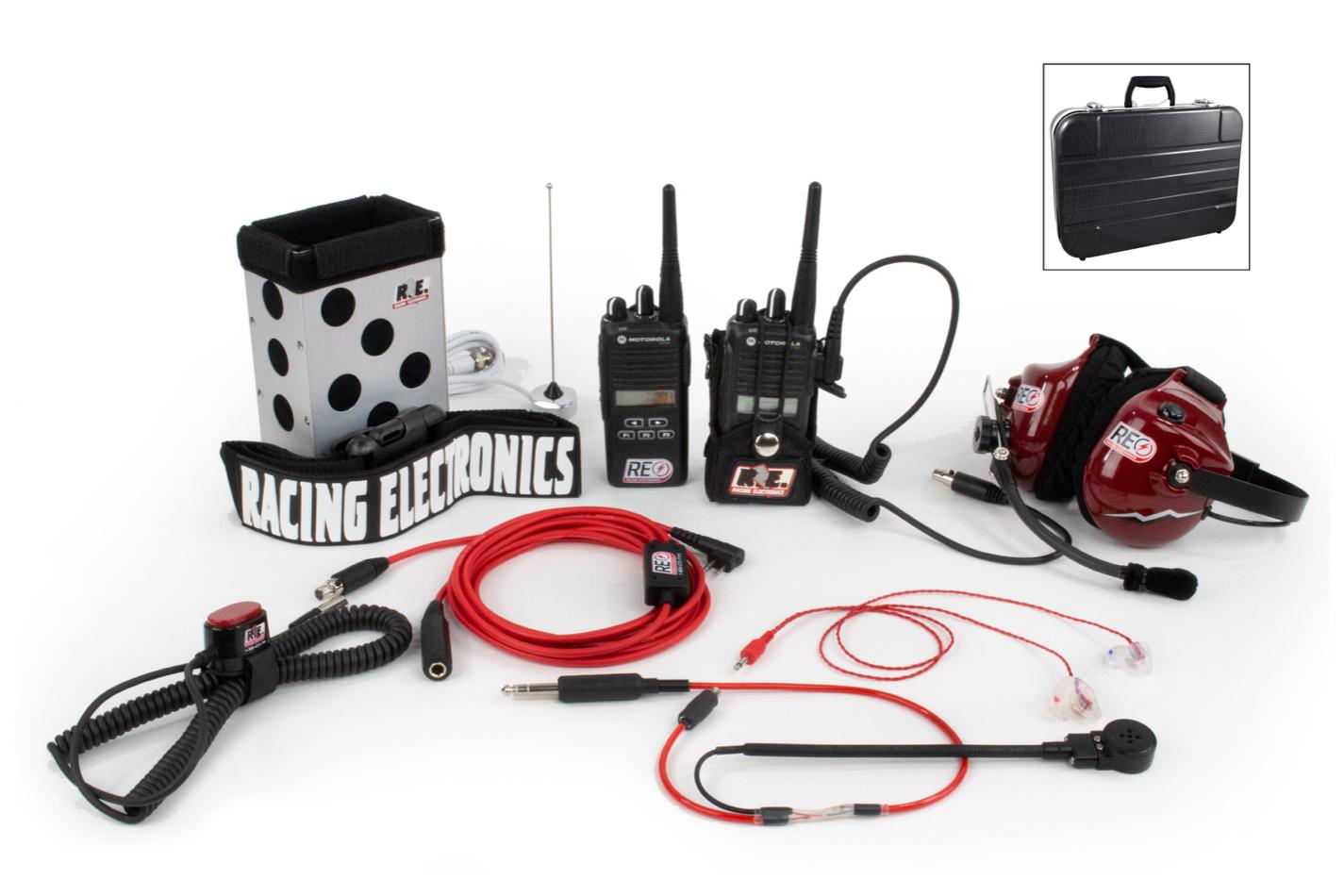 Racing Electronics Chase 2 Way Radio Kit Motorola CP185