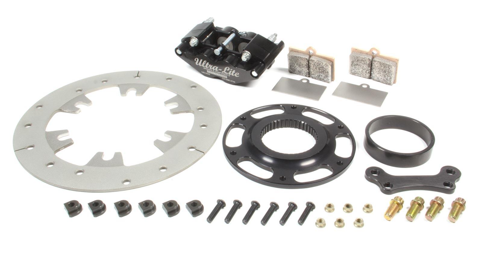 Red Devil / Ultra Lite Brakes Right or Left Rear Brake Kit TI Rotor Black