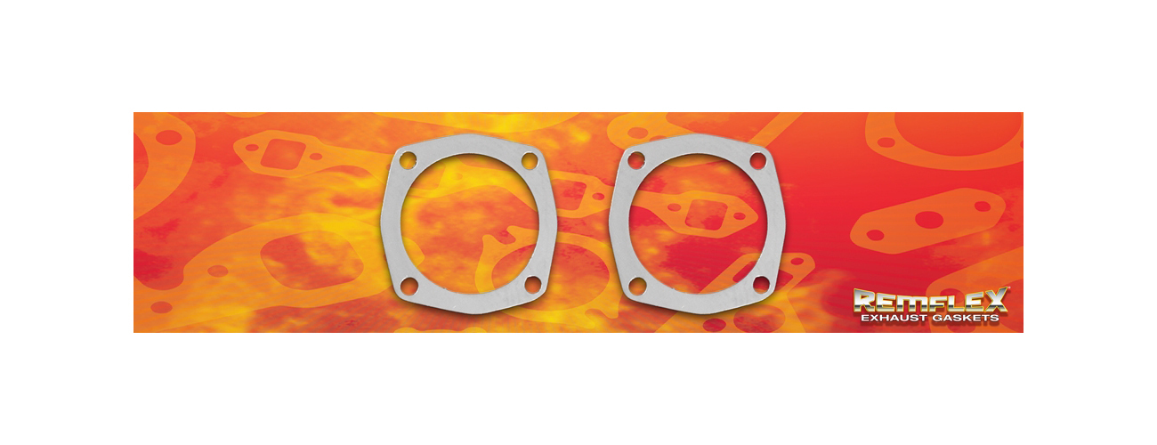 Remflex Exhaust Gaskets Header Collector Gaskets 4-Bolt 3.875 ID (2pk)