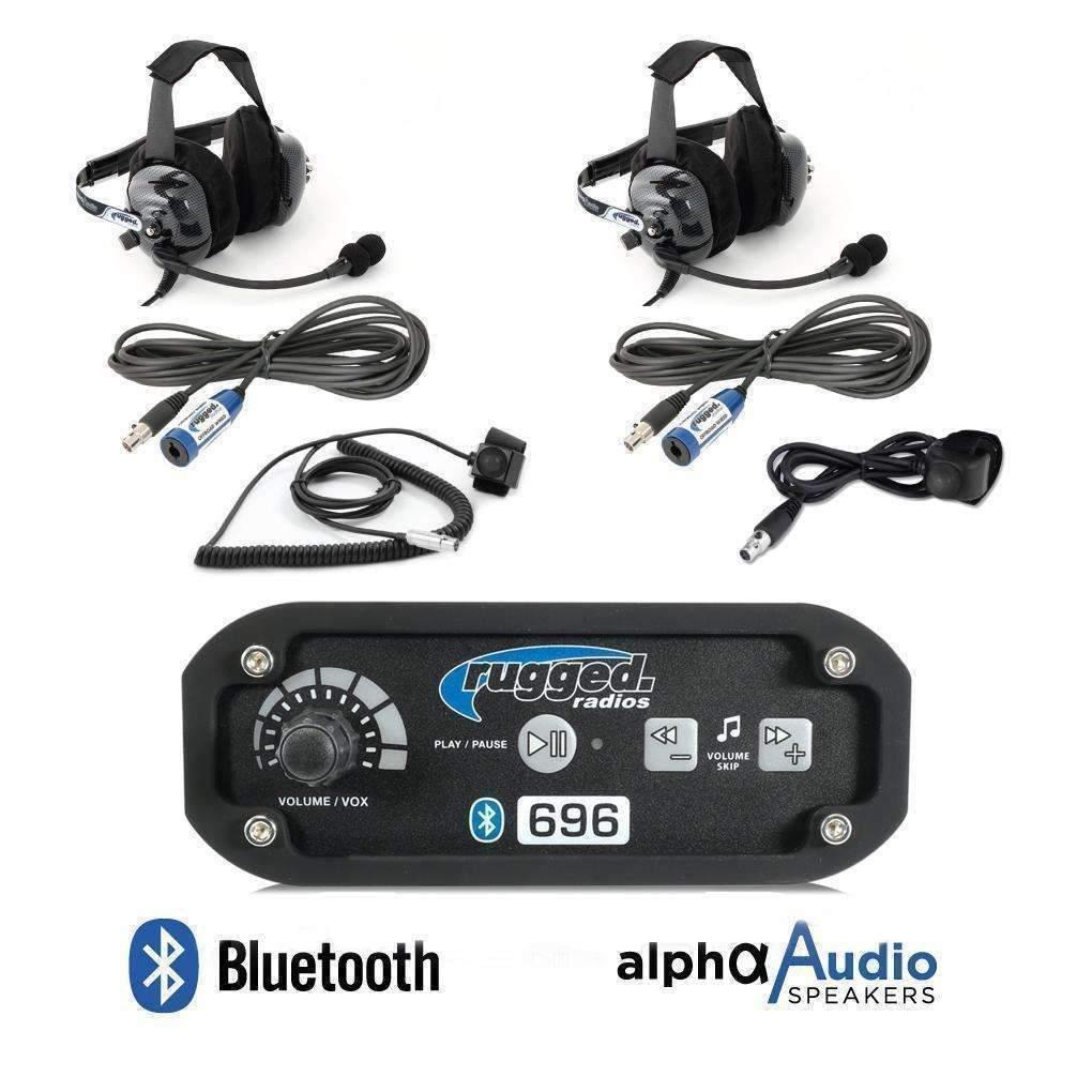 Rugged Radios Intercom System 2 Person w/Headsets Bluetooth