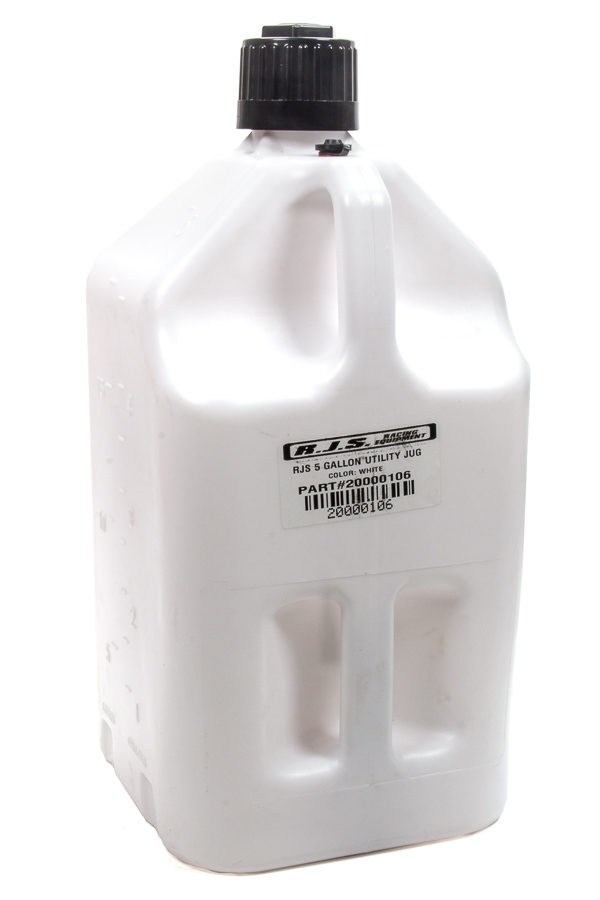 Rjs Safety Utility Jug 5 Gallon White
